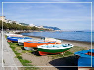 Boats on Salerno Bay, Italy