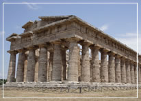 Greek Temple of Paestum, south of Salernoin Italy